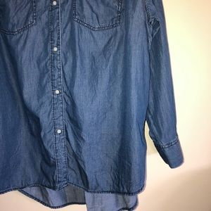 a.n.a Tops - Ana Chambray Long Sleeved Button Up Ombré Shirt